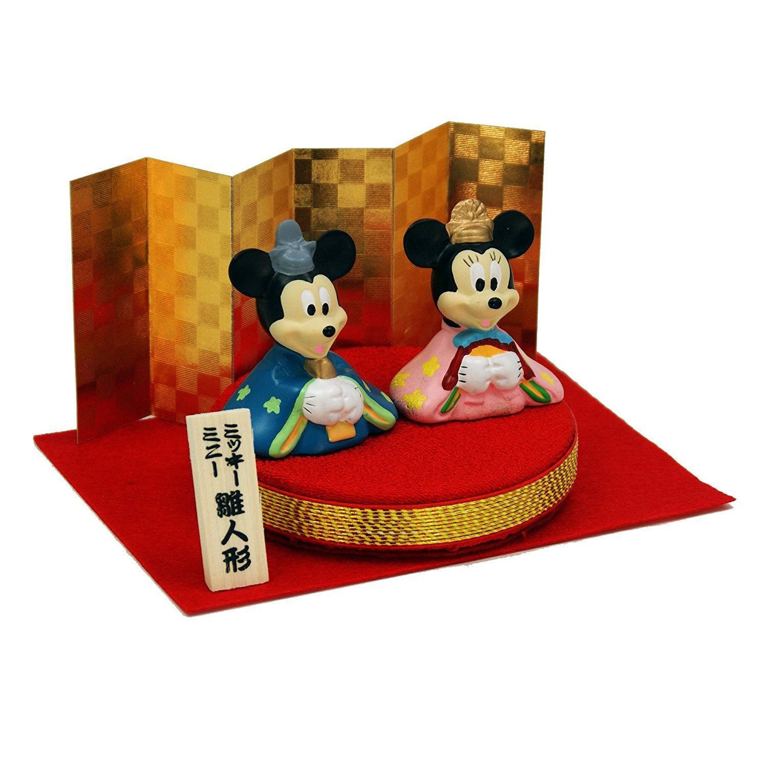 Made in Japan Disney Character Goods Mickey & Minnie Hina Doll Figure
