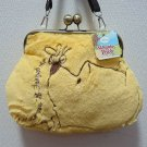 Disney Character Winnie The Pooh Gamaguchi Pochette Shoulder Bag Fur Yellow