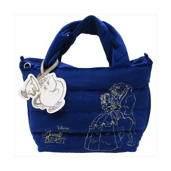 Beauty and the Beast Bell ROOTOTE Princess tote bag Handbag Mrs.Pot Chip blue