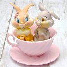 Disney Happiness Tea Party Tonsuke & Miss Bunny Figure Cup Ornament