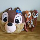 Disney Chip & Dale Lucky Set! Face Shoulder Bag & Headband & Key Holder