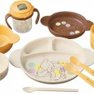 Disney Pooh Baby Combination Tableware set for baby food Milk cup Lunch dish FS