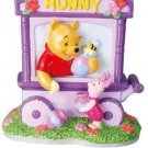 Disney Winnie the Pooh 3D Pottery Piggy Bank Music Box Sankyo Japan FS NEW
