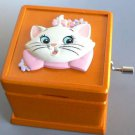 Disney Aristo Cat Marie Wooden hand-crafted 18 valve Music box Accessory case