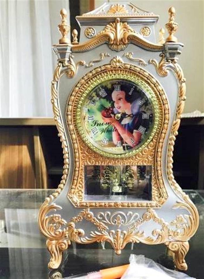 Disney Snow white Castle Clock L Princess NEW Japan F/S