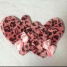 Tokyo Disney Sea Limited Minnie Mouse Pink fur leopard pattern gloves Mittens FS
