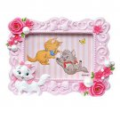Disney store Aristo cat Marie Photo stand frame pink Rose figure stand Japan FS