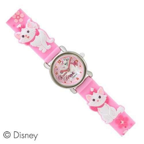 Disney Aristocats Marie 3D solid Wrist Watch Pink For Girls Kids watch F/S Japan