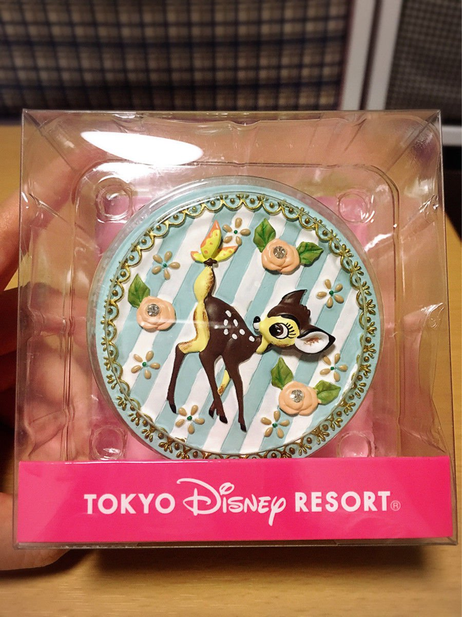 Tokyo Disney Resort Bambi Jewelry case Accessory box ring Pierce case Disneyland