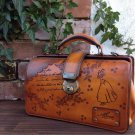 Disney Snow White Princess Leather Dulles Bag Leather Second Tote Handmade