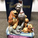 rare! Disney store world limited production Lady and the Tramp figure ornament