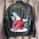Vintage Fantasy Genuine Leather Leather Mickey Mouse Jacket Wizard Sorcerer