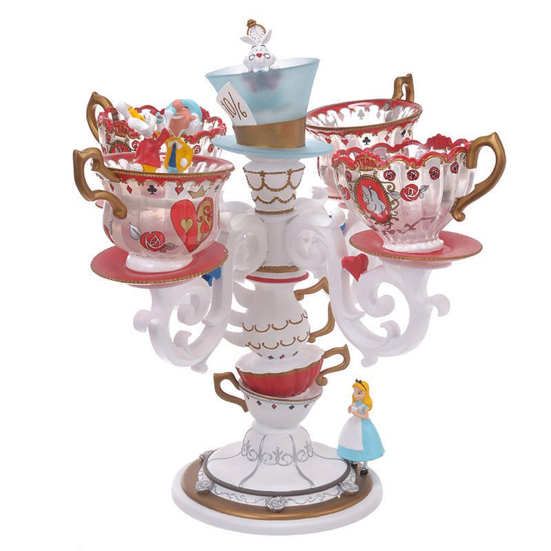 Disney Store Japan Alice in Wonderland ALICE PARTY LED light Tea cup lamp figure