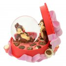 Disney store Japan 25th anniversary chip & dale snow globe with music box