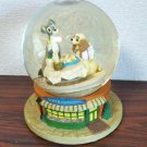 Vintage Disney Lady and the Tramp Snow Globe Music Box Figure Dome Ornament