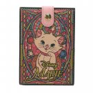Disney Aristo Cat Mary Genuine Leather Stained Glass Stand Mirror Compact Ladies