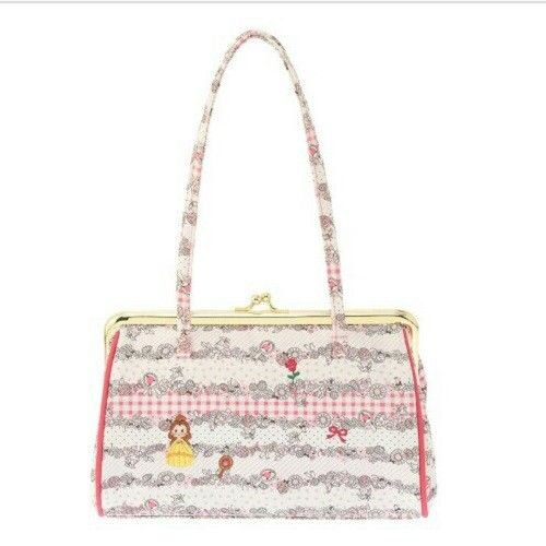 Disney Store Japan Limited Beauty and the Beast Bell Tote Bag Gamaguchi Pouch