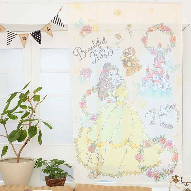 Disney Store Japan Beauty and the Beast Bell Princess Party Cafe Curtain Doorway