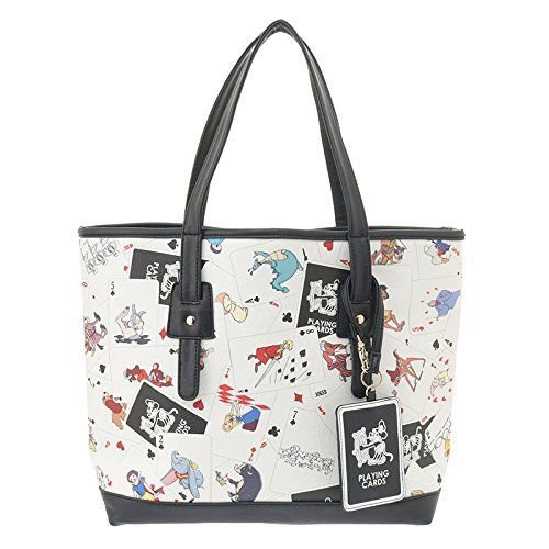 Disney Store Japan 25th Anniversary Character Cards Tote Bag with Pass Case