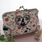 Disney Alice in Wonderland Gamaguchi Pouch purse purse Handmade Heart Rose