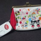 Disney Store Mickey Disney Land Design Embroidery Wallet Pouch Gamaguchi