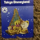 rare! Tokyo Disneyland Character once after a time Mrs. Potto & Chip Pin Badge