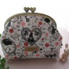 Disney Alice in Wonderland Gamaguchi Pouch purse purse Handmade Heart Rose Item