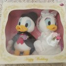 Rare! Disney Character Goods Donald Duck & Daisy Bridal Doll Wedding Doll Plush