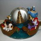 Tokyo Disney Sea Snow Globe Dome Mickey Minnie Donald Daisy Genie Ariel Figure