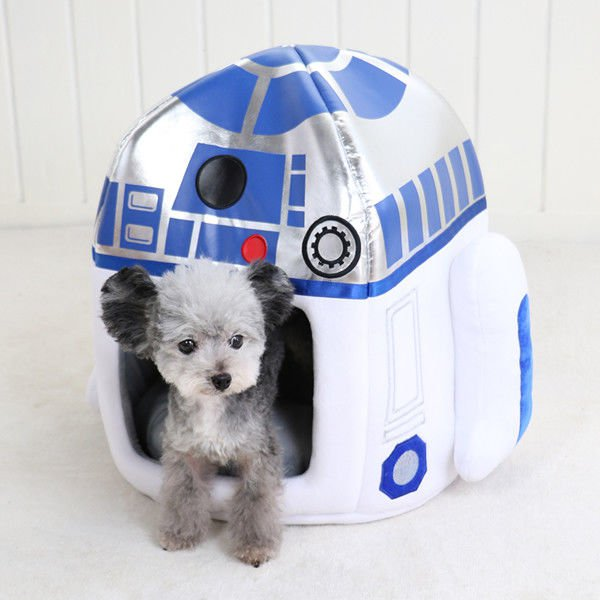 Disney Star Wars R2 - D2 House Pet Home Cadler for Dog Bed Interior shelter Hous