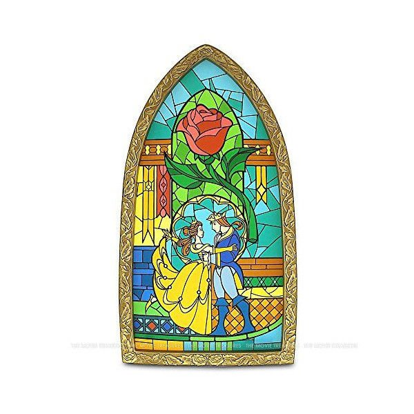 Walt Disney World Beauty and the Beast Stained Glass Glass Bell
