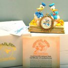 1999 Disney Store Donald Duck 65th Anniversary PW Clock + Figure Ornament
