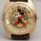 rare! 1975 Miami WDW Mickey Mouse Wrist watch PGA Golf Open Tour ELGIN