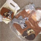 Disney Store Japan Lady and the Tramp Tote Bag Hand & Case Pouch Pochette Set