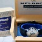 1971 HELBROS Minnie Mouse highest grade 17 stone work volume Wrist watch vintage
