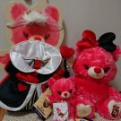 Disney Univera Red Berry Heart Queen Plush Plush Doll 4 Item Set Kids Ladies