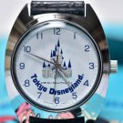 1983 Tokyo Disney Land Open hand winding Wrist watch Cinderella Castle