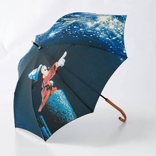 Made in Japan Fantasia Wizard's disciple Mickey mouse UV cut print umbrella para
