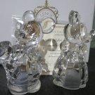 Disney Lenox Mickey & Minnie Crystal Figure Salt & Pepper Case Houseware