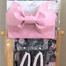 Minnie Mouse SAKURA Cherry blossoms Yukata Set M Pink Roses Kimono Dress Girl