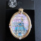 2005 Tokyo Disney Land Cinderella Castle Stained glass pin badge Linda Flynn