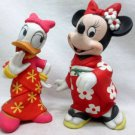 Disney Minnie Mouse & Daisy Yukata Doll Pottery Figure Maiko Set