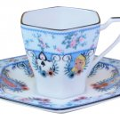 Disney Alice in Wonderland Porcelain flower cafe cup & saucer tea set