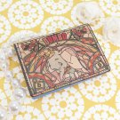 Made in Japan Dumbo Leather Folded Pass Case Stained Glass Card Holder