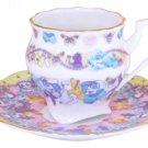 Disney Alice in Wonderland Porcelain butterfly cafe cup & saucer tea set