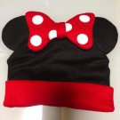 Tokyo Disney resort Minnie mouse ribbon Knit hat Hat cap Girl