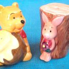 Disney Winnie The Pooh & Piglet Salt & Pepper Honey Pot Seasoning Case Box