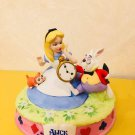 TDL Alice in the Wonderland White Rabbit Dina Pottery Figure Ornament