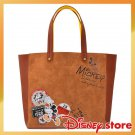 Disney Store Japan Vintage Mickey & Minnie Tote Bag Shoulder Bag Hand Patch
