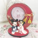 Disney Store Japan Mickey & Minnie Mouse Kimono Wedding Bridal Photo Frame Stand